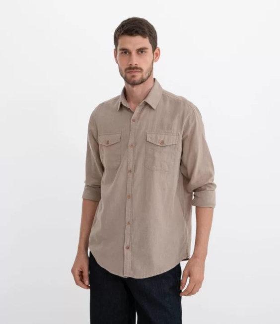 Camisa de linho com algodão Marfinno (Renner)