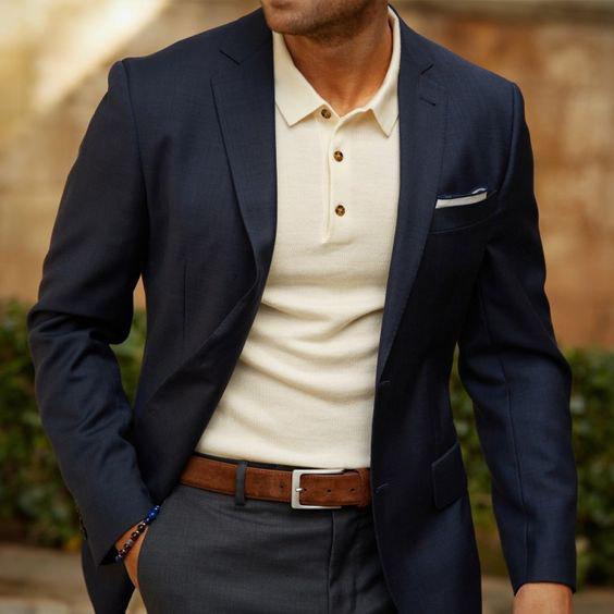 Camisa polo: pode ficar muito elegante, mas certifique-se de usar uma peça no tamanho adequado.