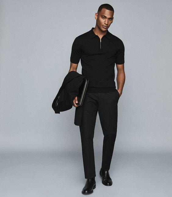 O Look Certo: Um All Black Masculino Simples e Impecável