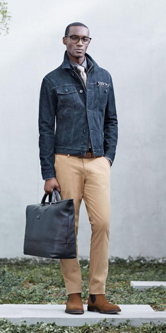 O Look Certo: Jaqueta Jeans e Gravata (Hugo Boss)