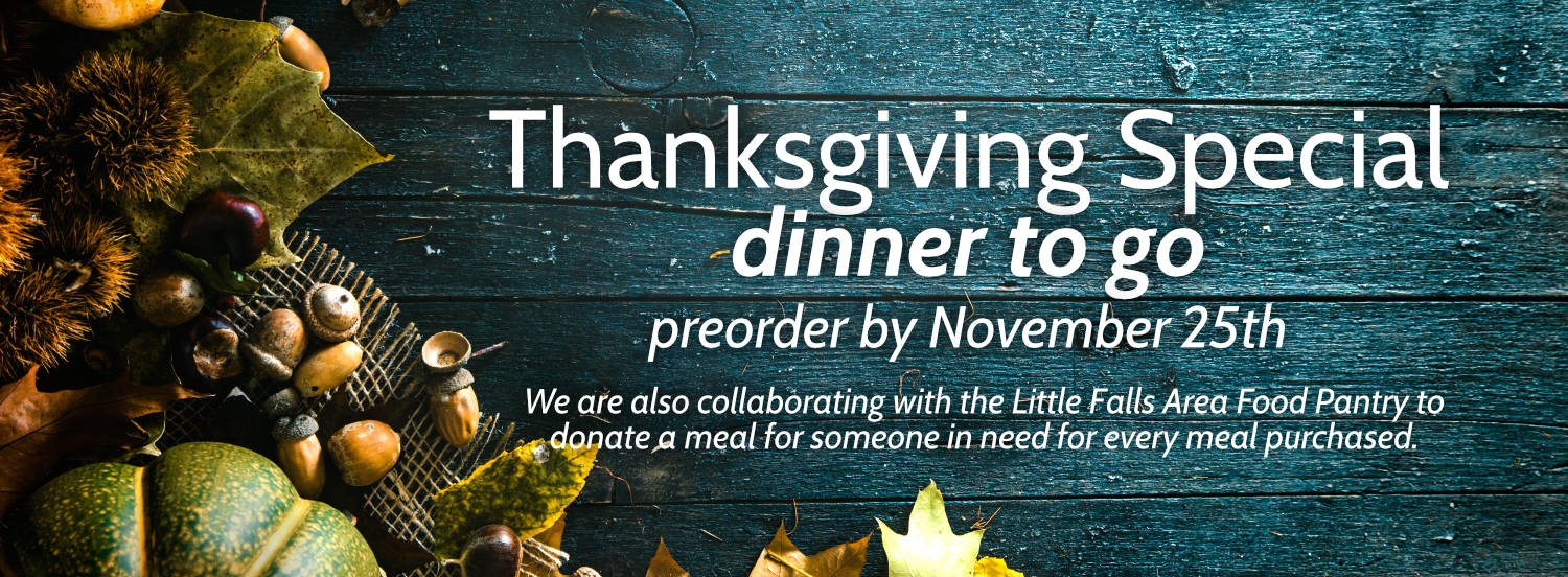 Thanksgiving Special – Dinner To Go From The Canal Side Inn