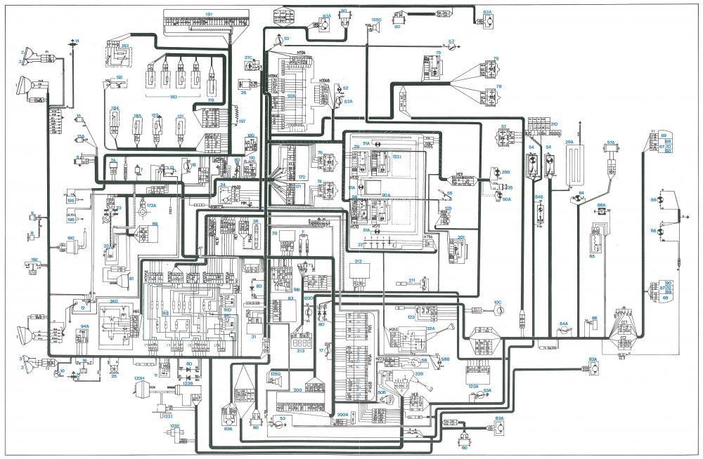 Wiring Diagram Peugeot 505 Gti / Peugeot 309 Gti Wiring