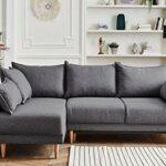 Lisa Design – Hanne – Canapé d'angle Convertible scandinave – avec Coffre – 4 Places – Gauche