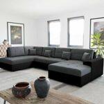 Bestmobilier – Ohio – Canapé d'angle panoramique – XXL 7 Places – Style Contemporain – Gauche