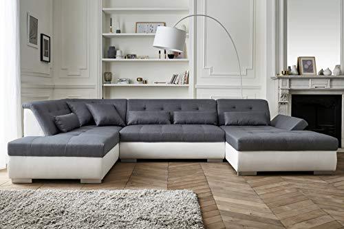 Lisa Design – Vermont – Canapé d'angle panoramique en U – XXL – Gauche
