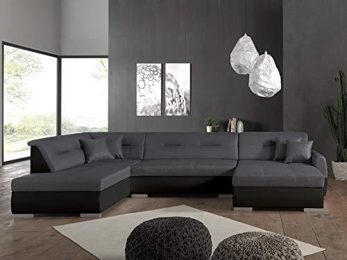 Bestmobilier – Manhattan – Canapé d'angle panoramique – 7 Places – Style Contemporain – Gauche