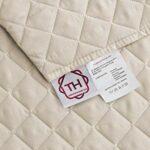 textil-home Housse de canapé Malu, Protection rembourrée pour canapé d'angle Droit. Taille -240cm. Couleur Ivoire (VU of Face)