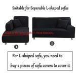 Housse de Canapé d'angle Extensible, Housses de Canapé Sectionnelles, Forme L Tissu Confortable Extensible, Revêtement de Canapé en Tissu élastique