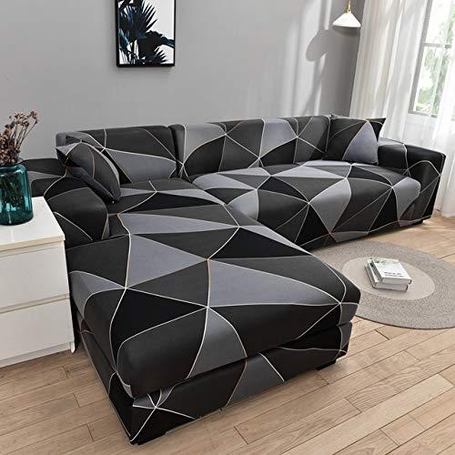 Housse de canapé d'angle Extensible Couverture de Canapé en Forme de L, pour canapé 1/2/3/4 places(Le Revêtement de Canapé d'angle en L Doit en Acheter Deux)