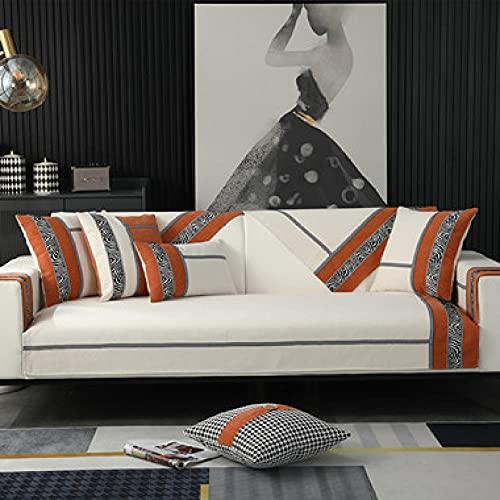 Fsogasilttlv Housse De Canapé d'angle,Housses de Coussin décoratives Housses de Coussin Modernes et extérieures Taies d'oreiller de Luxe pour canapé-lit Blanc Rouge 18 * 18inch