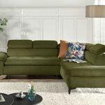 Lisa Design – Niamey – canapé d'angle Convertible – avec têtières – Style Contemporain – 5 Places – Droit
