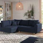 Lisa Design – Rune – canapé d'angle Convertible – avec Pouf – 4 Places – Style scandinave – Gauche