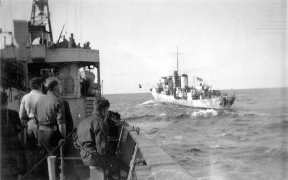 K-39 desde la cubierta de otro acorazado