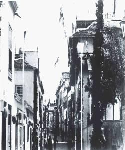 Calles de Santa Cruz engalanadas para las fiestas de 1892