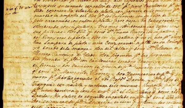Inventario del 17 de septiembre de 1811 de la Parroquia de Nuestra Señora de la Peña de Francia