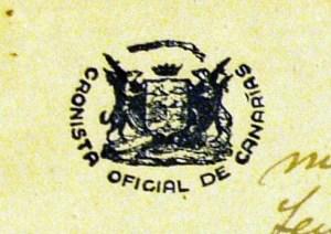 Sello Cronista Oficial de Canarias