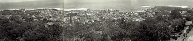 Algunas entradas de Canarizame localizadas sobre una foto panorámica del Puerto de la Cruz.