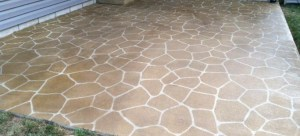 Photo of a Stencilled Concrete Patio in Canberra