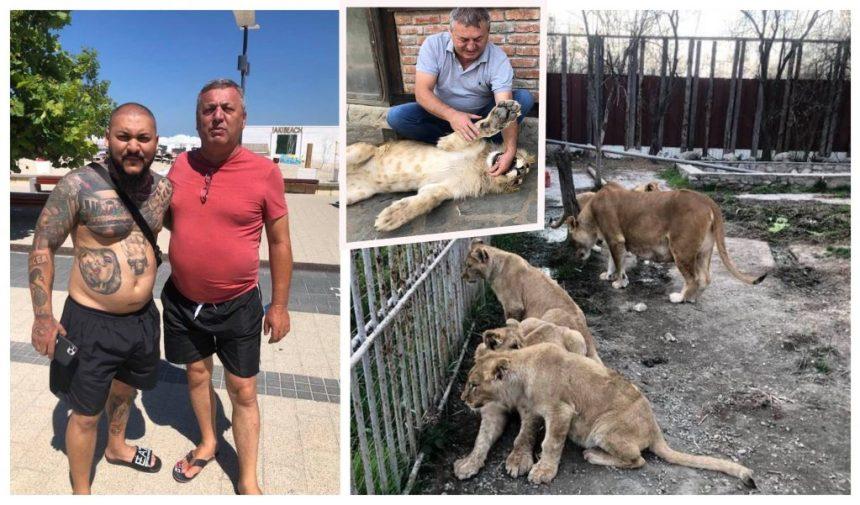 """Claudiu Duică și Dani Mocanu sunt prieteni, motiv pentru care atunci când manelistul a avut nevoie de un leu pentru clipul melodiei """"Stop, România"""", executorul judecătoresc i l-a împrumutat fără prea multe discuții © Facebook"""