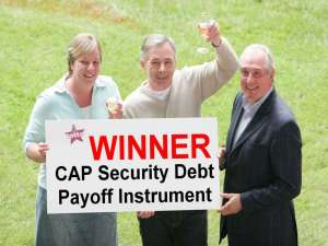 CAP Security Lattery Ticket Drawing. Lotto winner debt paid in full-1024