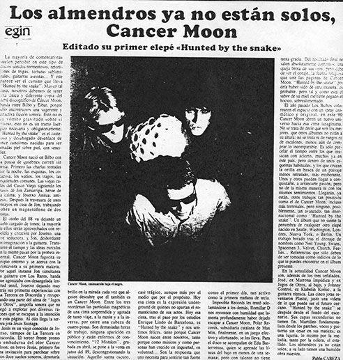 Cancer Moon en Egin por Pablo Cabeza (marzo 1990)