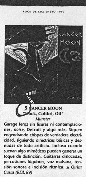 'Flock, colibri, oil' entre lo mejor de 1992 según Rockdelux