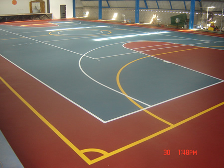 Soluciones para Superficies Multiusos  Canchas Deportivas