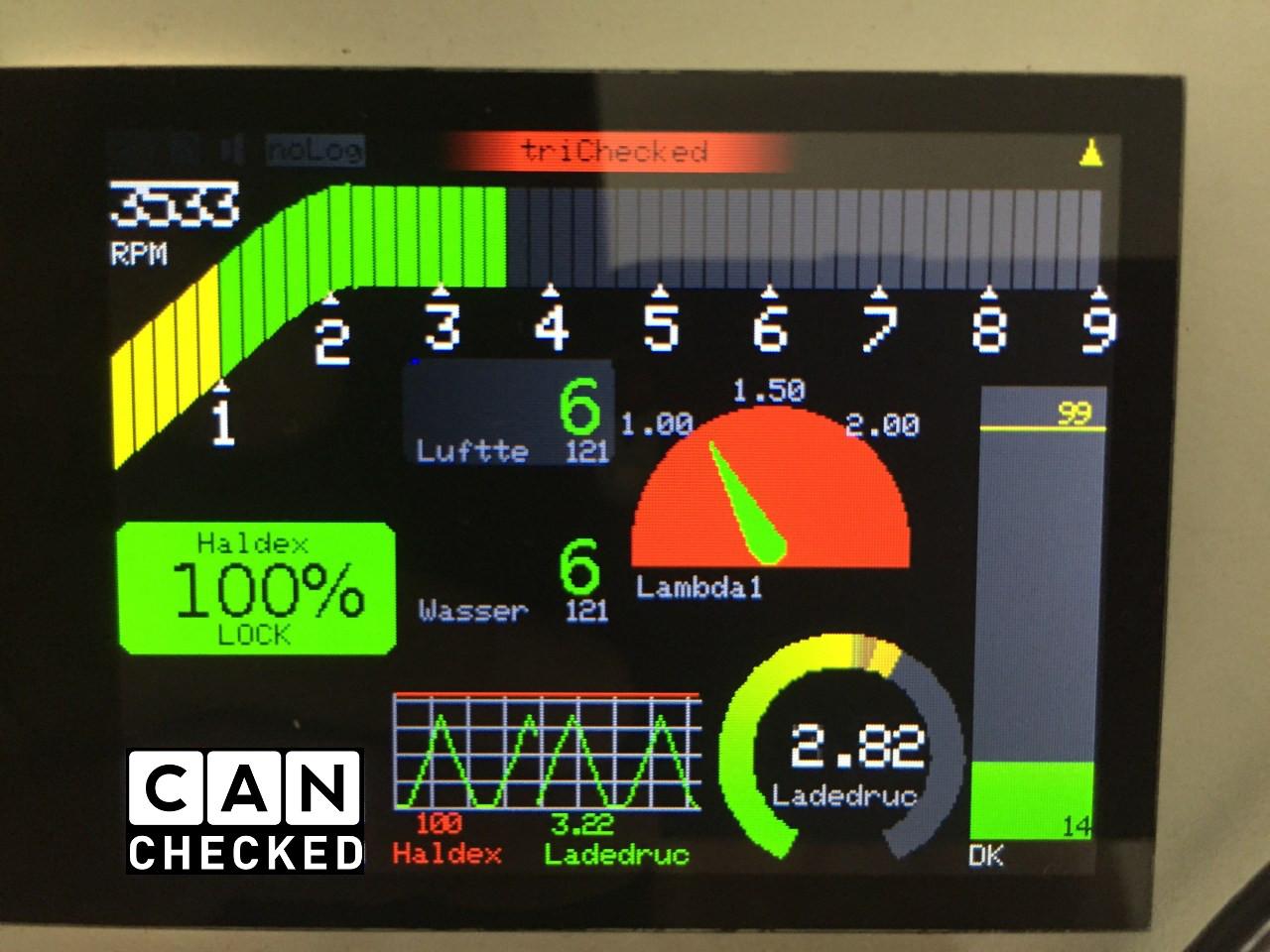 Haldex Widget Display Steuerung