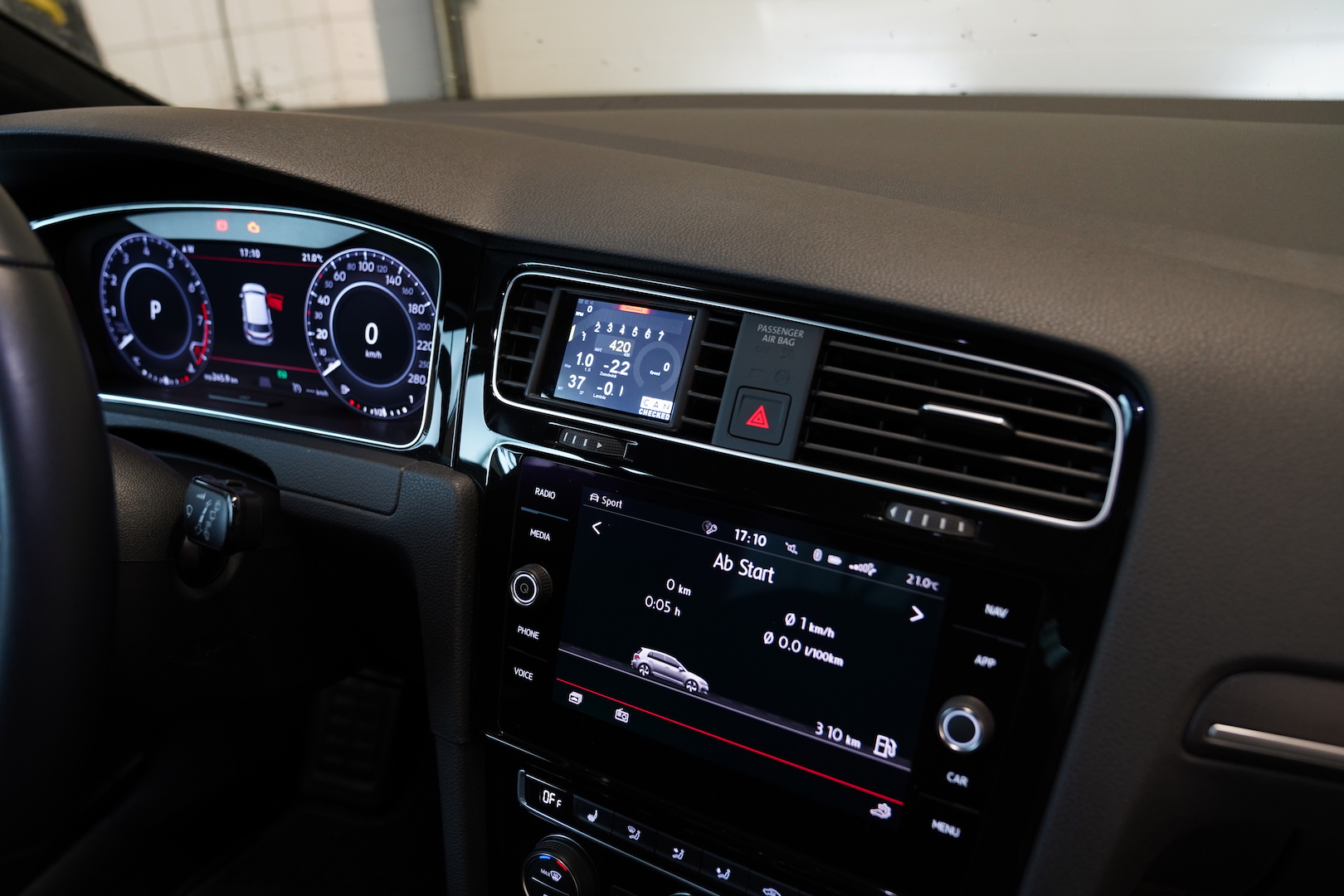 Golf 7 GTI R Display Datendisplay Anzeige