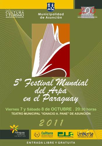 Cartel del V Festival Mundial del Arpa.