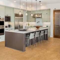 Cork Floor Kitchen 27 Inch Sink Floating Flooring Desert Arable 10mm 20 35 Sf Logan Floors Modern Design Island Cabinets