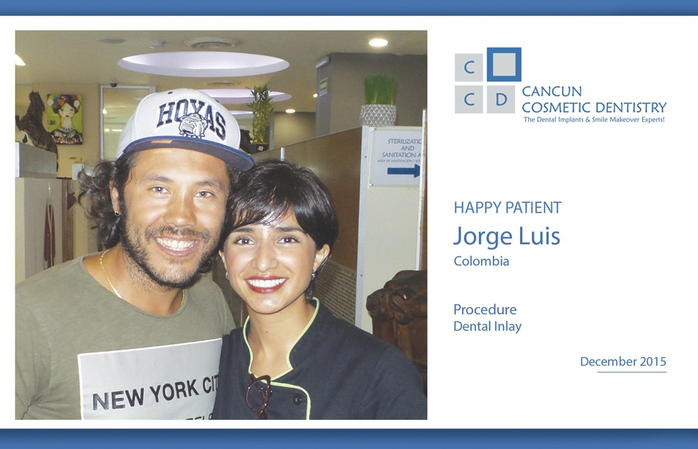 Patient was very happy with our Dentists in Cancun!
