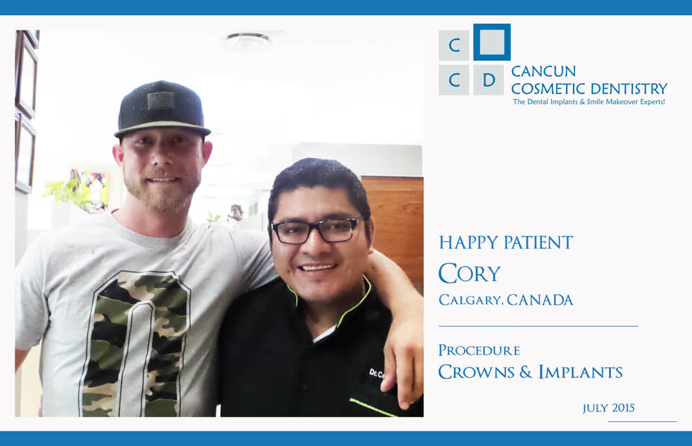 Two more happy patients at Cancun Cosmetic Dentistry!