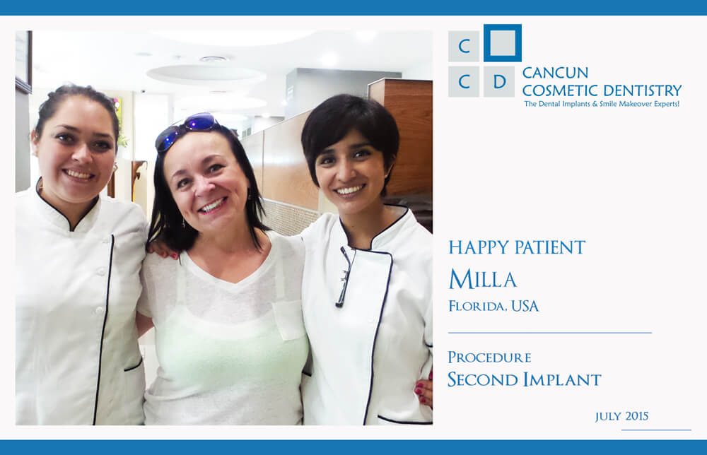 Another HAPPY PATIENT from our dental clinic in Cancun!