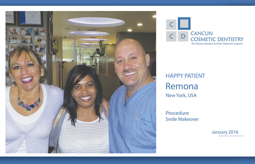 New Patient is happy with Smile Makeover in Cancun!