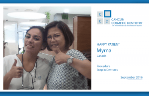 Check this amazing review from a Canadian happy patient! – Mini dental implants denture in Cancun