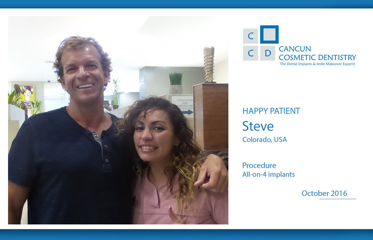 Amazing results with All on 4 dental implants in Cancun!