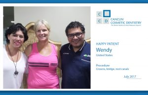 This patient loved her Cosmetic Dentistry in Cancun!
