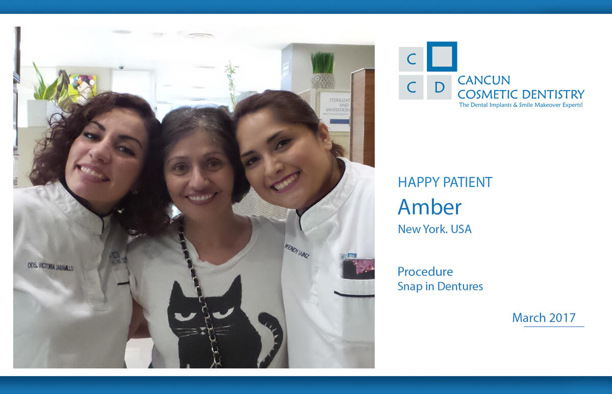 Snap in Dentures patient video review testimonial Cancun Cosmetic Dentistry