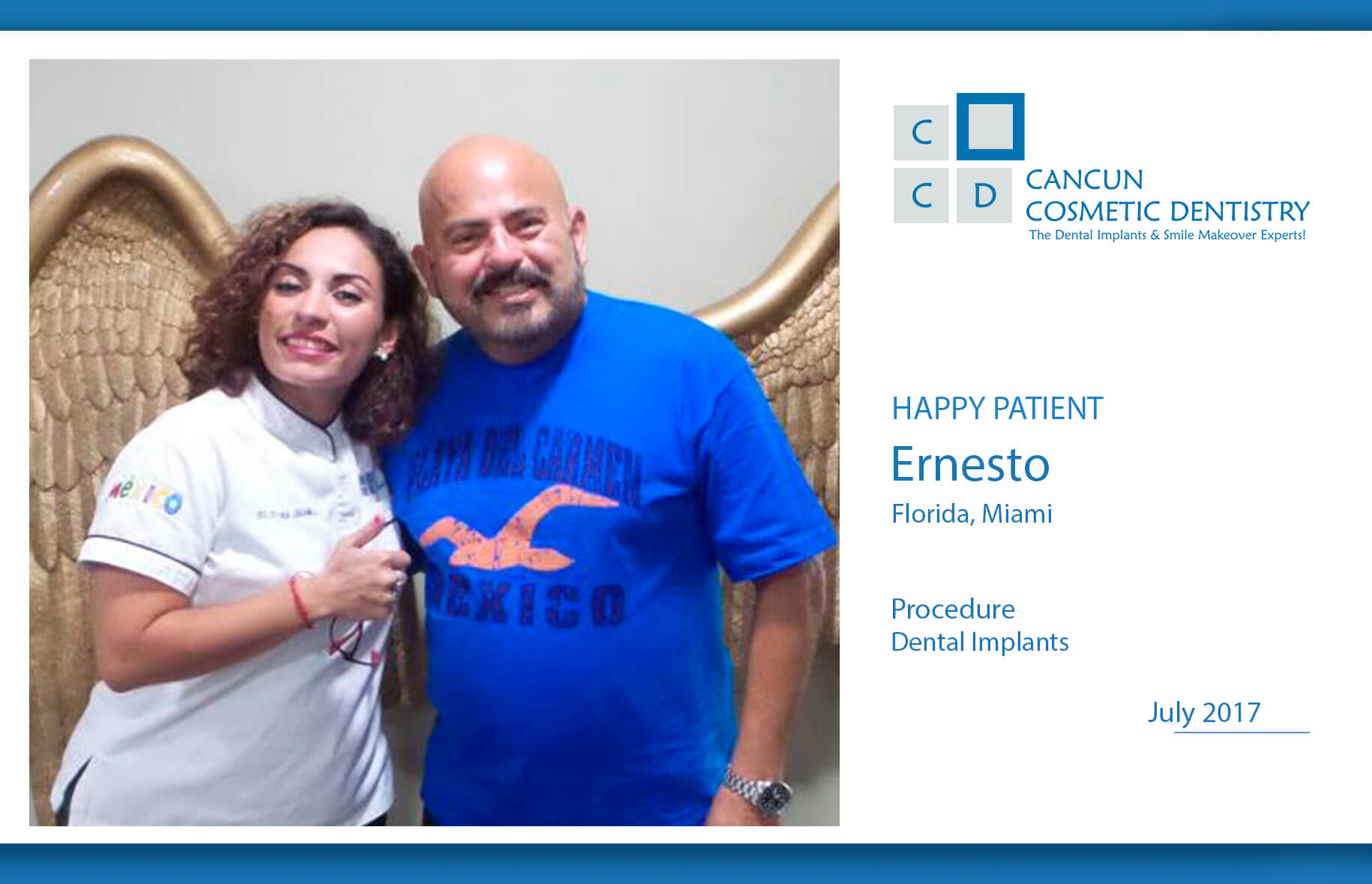 Review Happy Patient Dental implant Cancun Cosmetic Dentistry