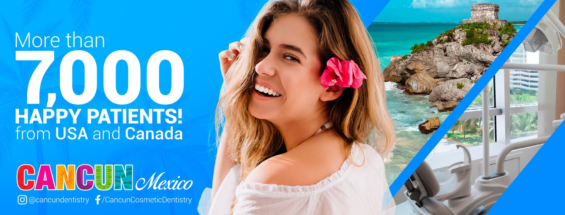 Cancun Cosmetic Dentistry smile makeover
