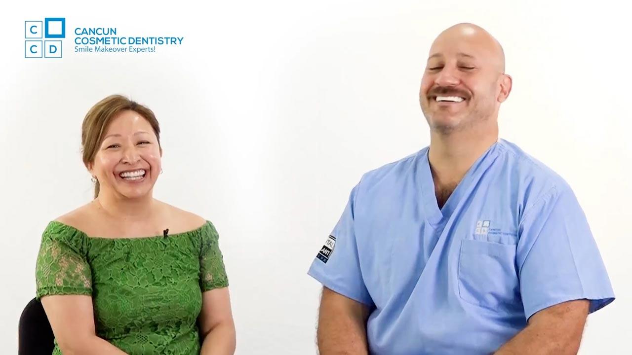 Cancun cosmetic dentistry video reviews testimonial smile makeover dental implant crown bone graft dentistry (25)