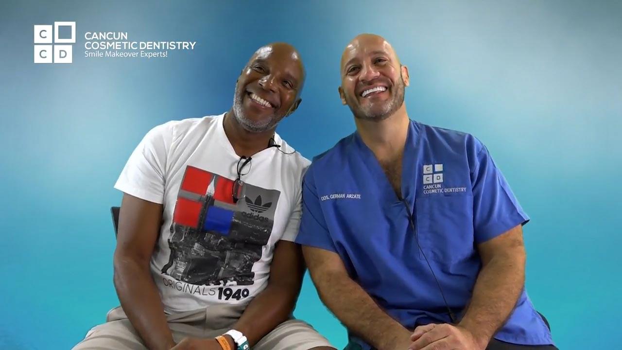 Cancun cosmetic dentistry video reviews testimonial smile makeover dental implant crown bone graft dentistry (30)
