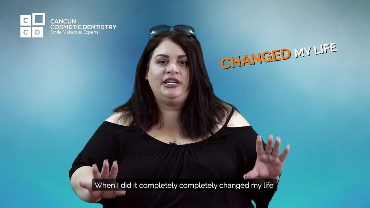 Cancun cosmetic dentistry video reviews testimonial smile makeover dental implant crown bone graft dentistry (31)