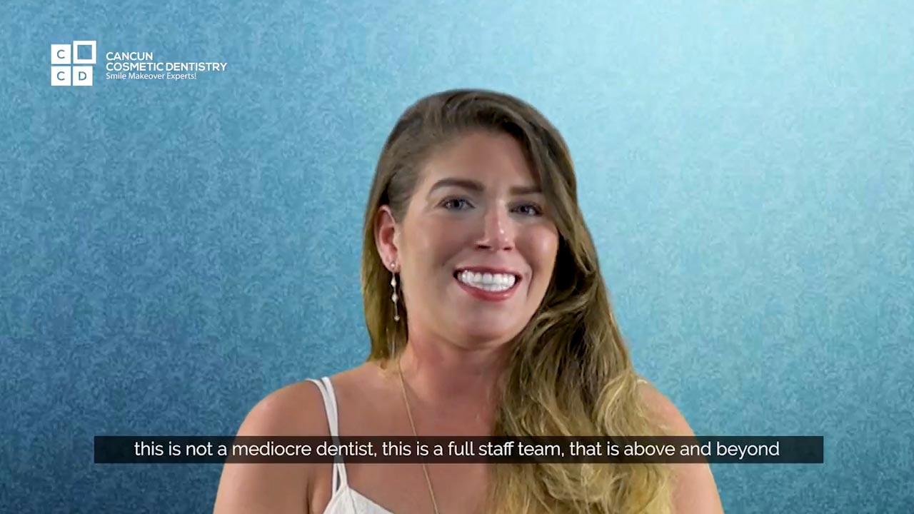 Cancun cosmetic dentistry video reviews testimonial smile makeover dental implant crown bone graft dentistry (34)