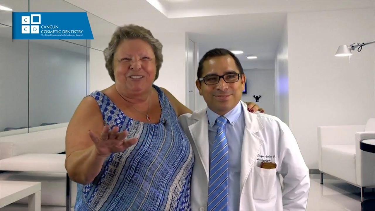 Cancun cosmetic dentistry video reviews testimonial smile makeover dental implant crown bone graft dentistry (37)