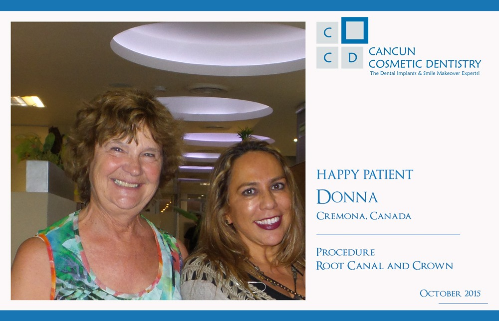 Happy Patient with Denitsts in Cancun Cosmetic Dentistry