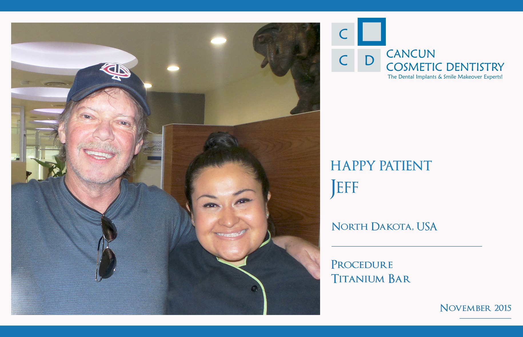 Good review of dentists in Cancun Cosmetic Dentistry
