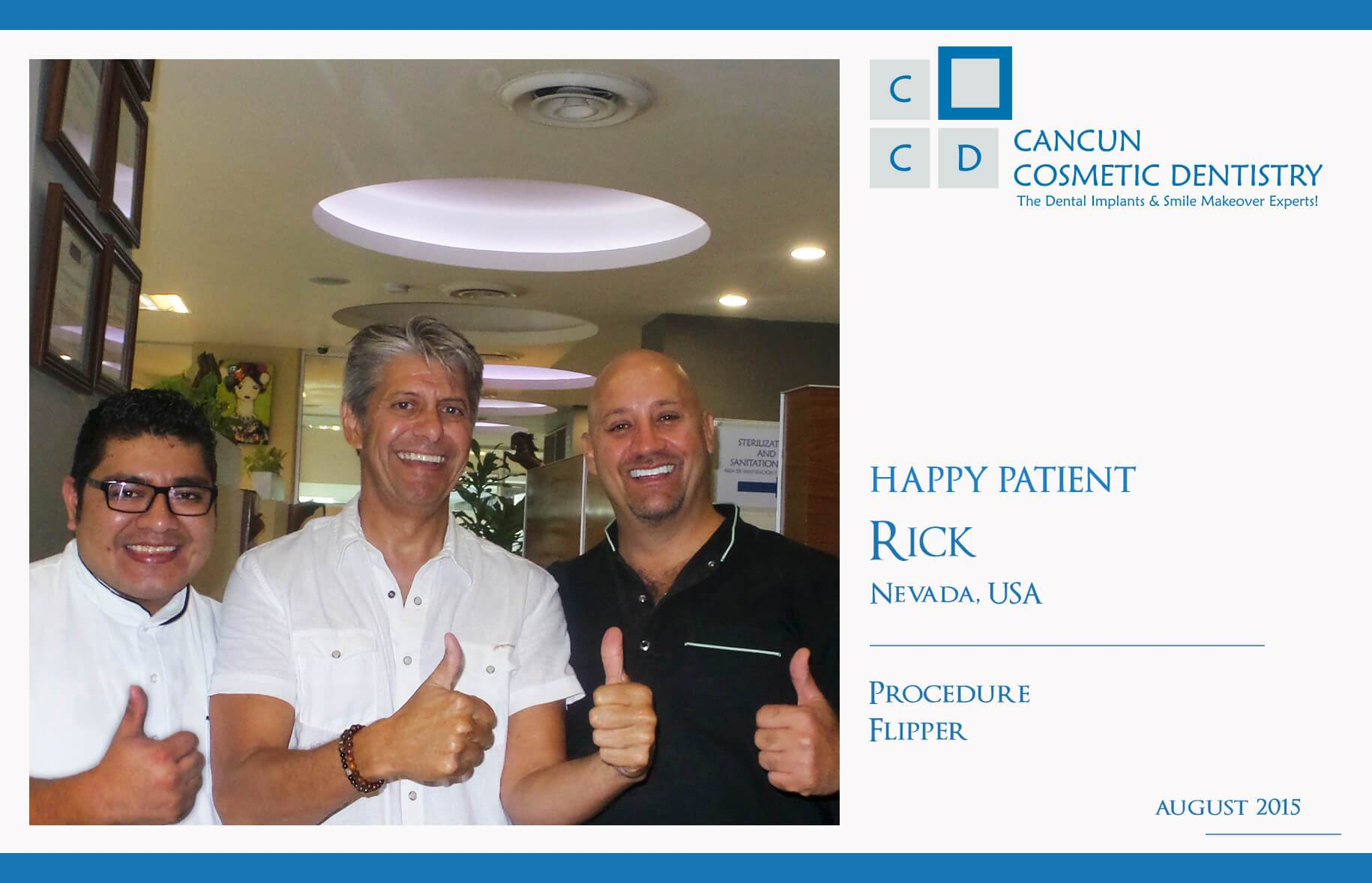 Cancun Cosmetic Dentistry review bone graft dental implants flipper
