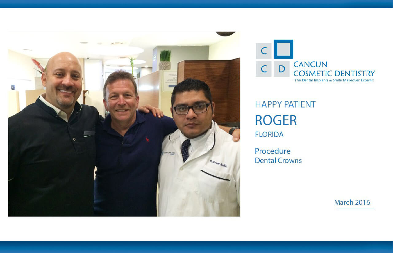 Dental crowns cost less in Cancun with Doctor German Arzate